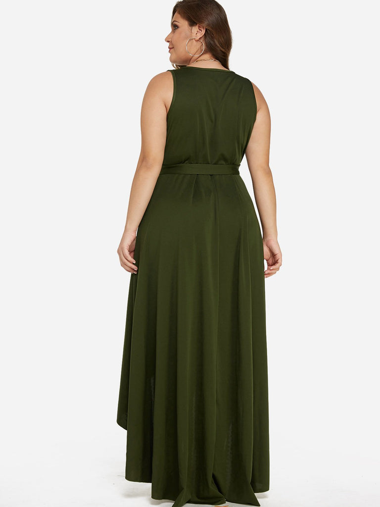 Womens Army Green Plus Size Dresses