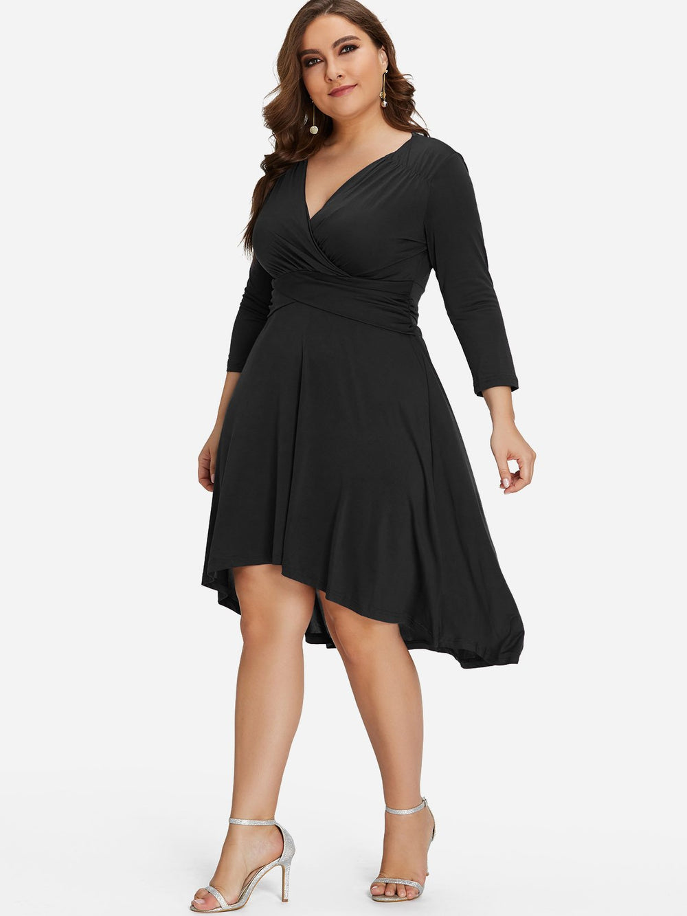 Ladies V-Neck Plus Size Dress