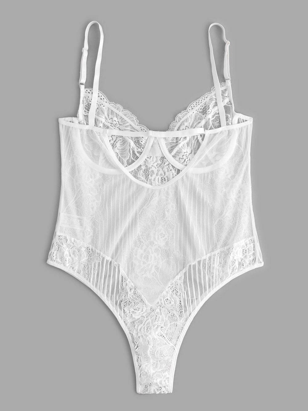 Womens White Plus Size Intimates