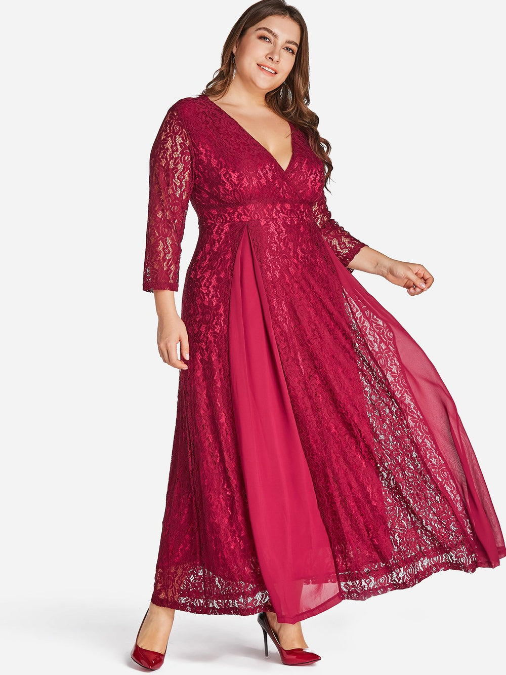 Plus Size Casual Maxi Dresses With Sleeves