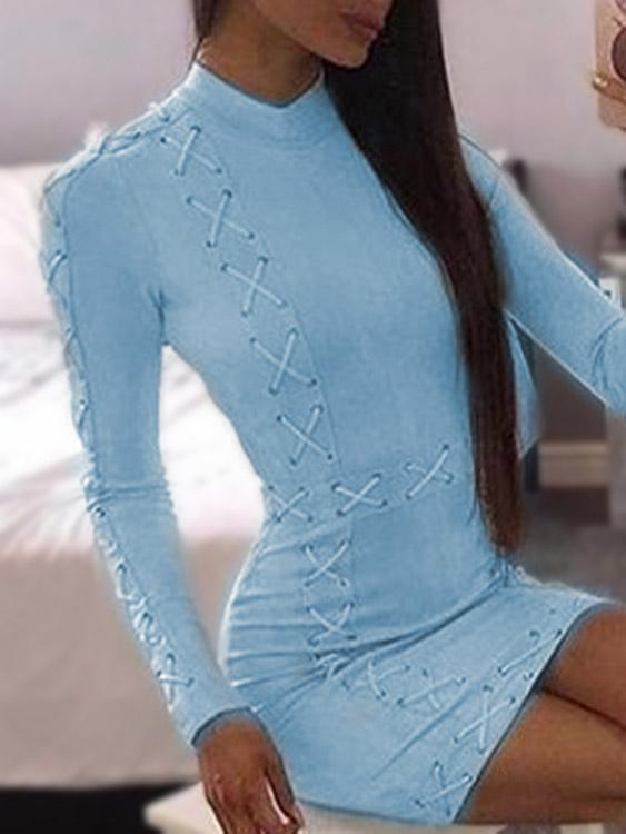 Womens Blue Bodycon Dresses