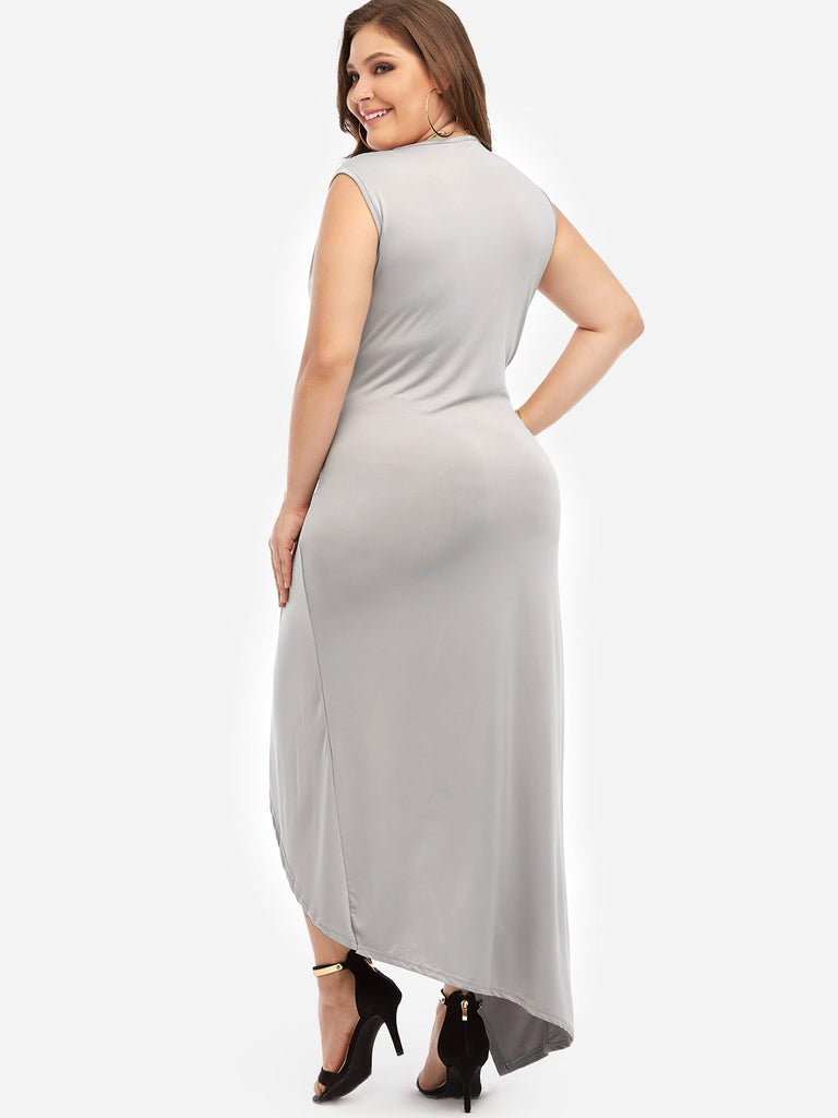 Womens Grey Plus Size Dresses
