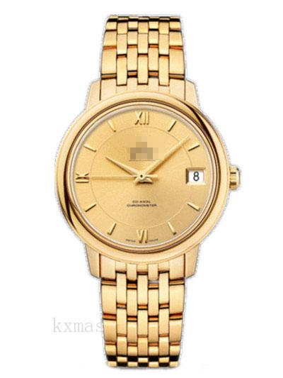 Wholesale Elegance Yellow Gold 20 mm Watch Band 424.50.33.20.08.001_K0017380