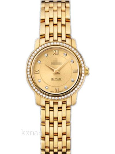 Wholesale Luxurious Yellow Gold 15 mm Watch Band 424.55.24.60.58.001_K0017368
