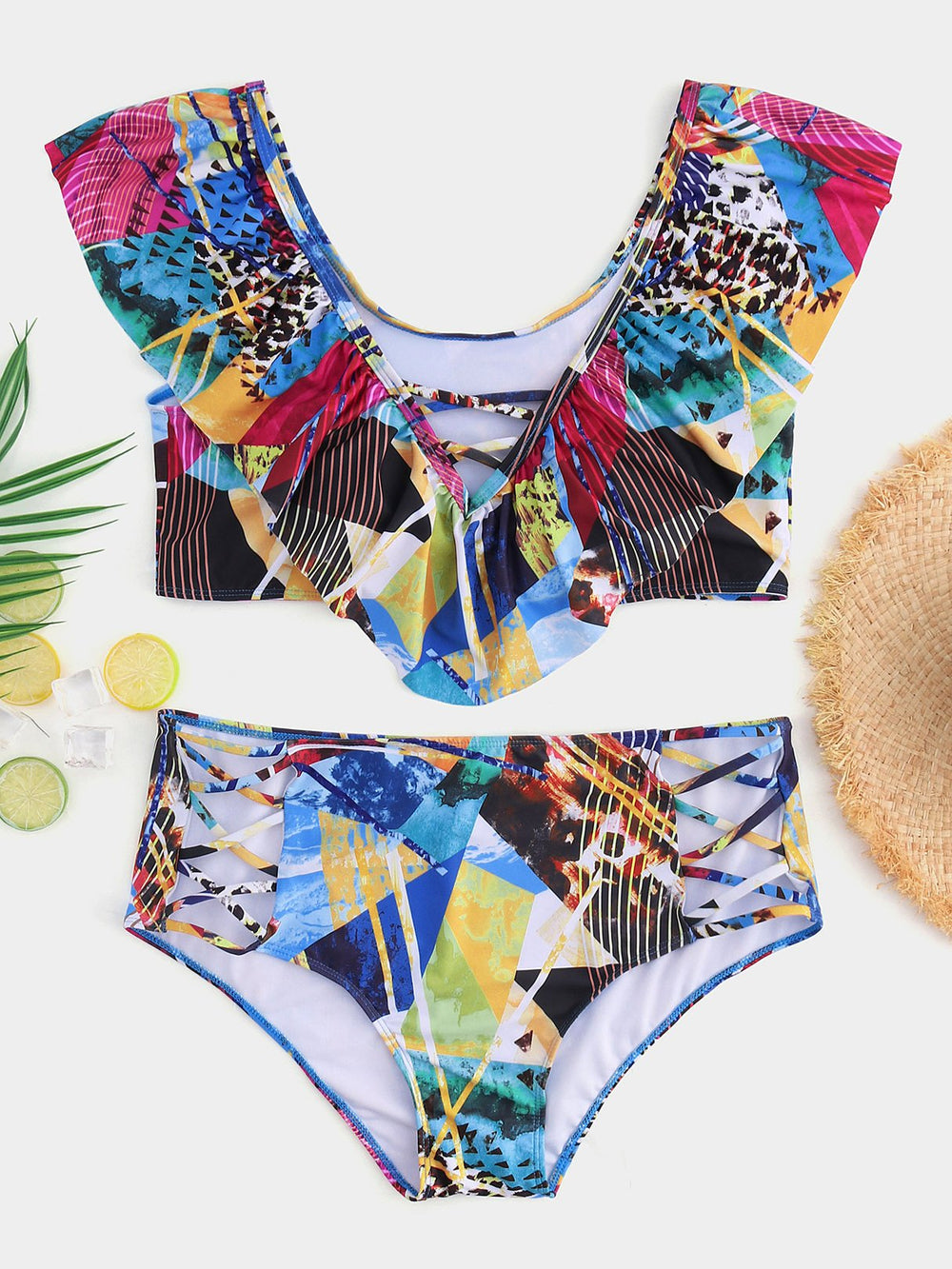 Womens Multi Plus Size Swimwear