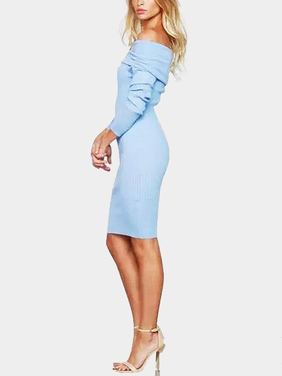 Womens Blue Sexy Dresses