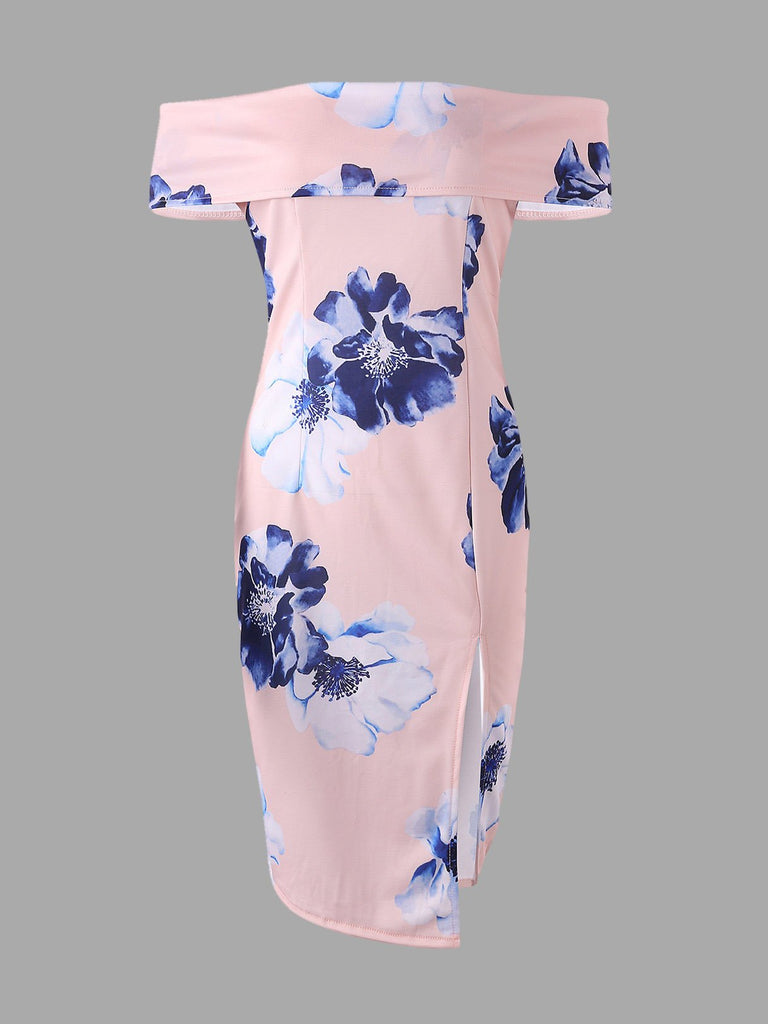 Womens Pink Floral Dresses