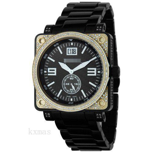 Wholesale Customized Black-Ion-Plated-Stainless-Steel 22 mm Watch Band 4853_K0033163
