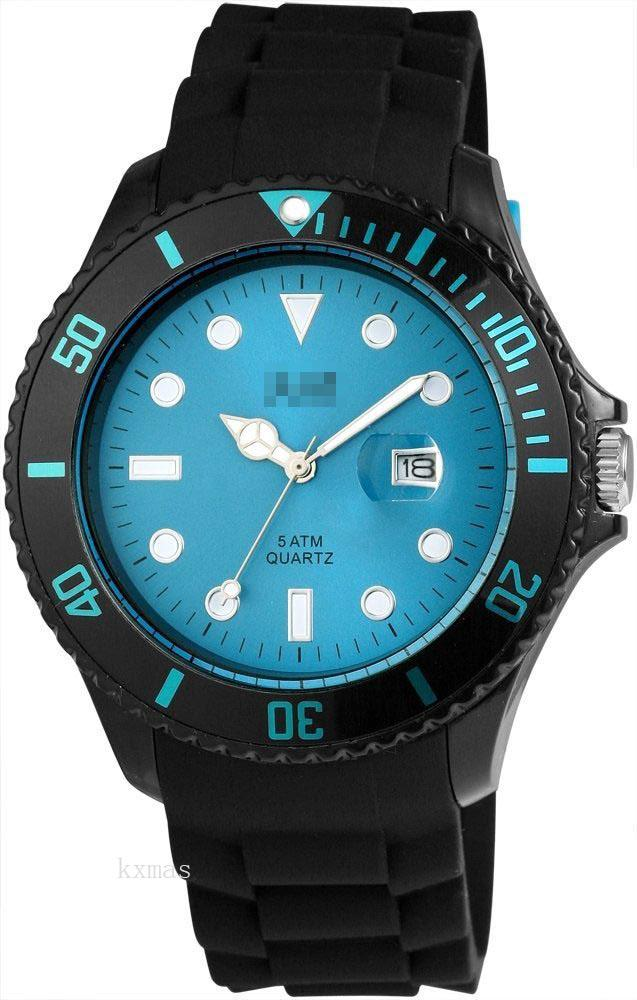 Unique Affordable Silicone 22 mm Watches Band 48-S5458BK-BL_K0006736