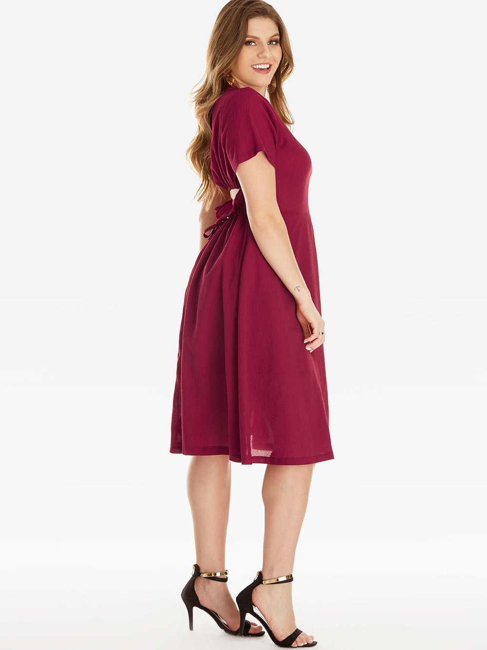 Ladies Red Plus Size Dresses