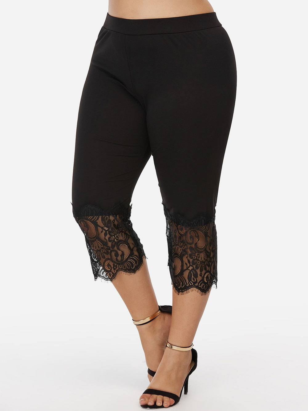 Womens Black Plus Size Bottoms