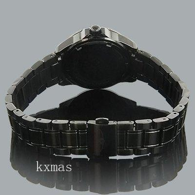 Wholesale Best Black-Ion-Plated-Stainless-Steel 16 mm Watch Band Replacement 5099_K0033155