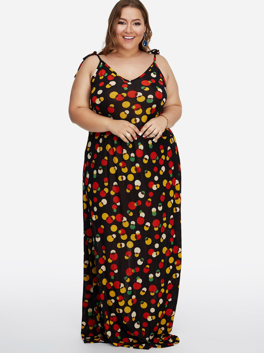 Womens Sleeveless Plus Size Maxi Dress
