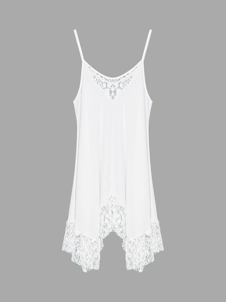 Womens White Chiffon Dresses