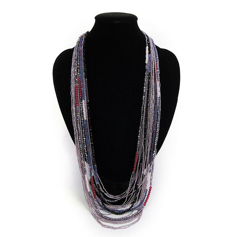 Multi Strands Glass Beads Necklace
