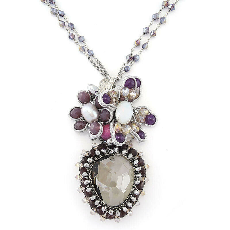 Crystal Pendant Handmade Necklace Bijoux