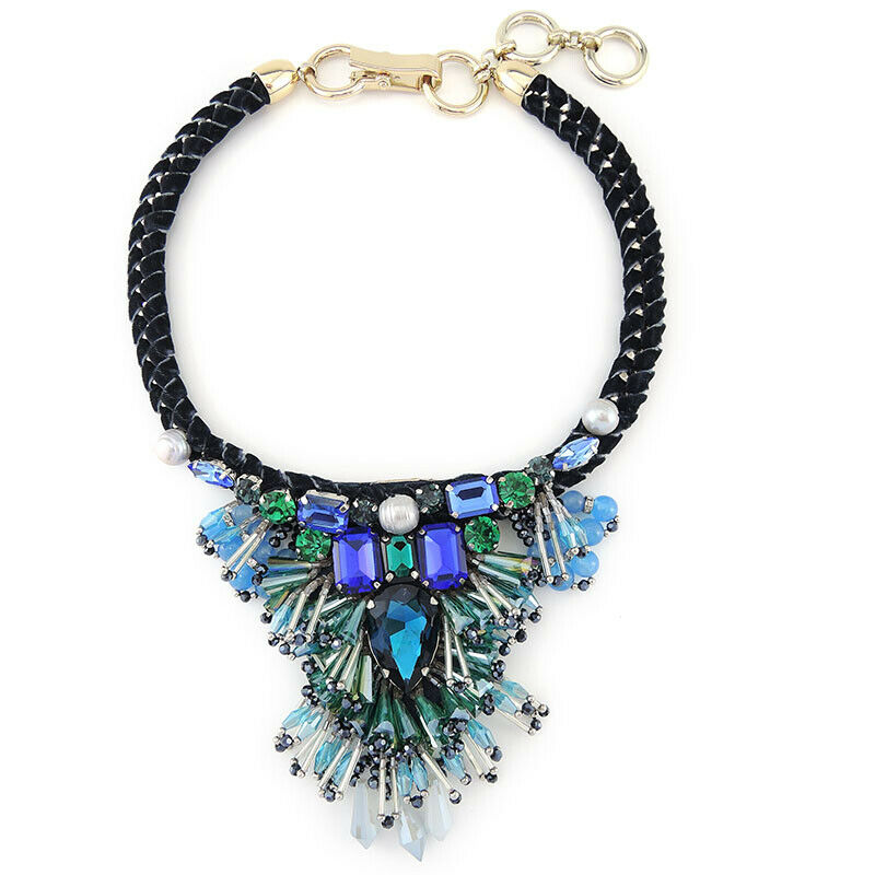 Unique Handmade Bead Embroidery Fringes Pendant Necklace