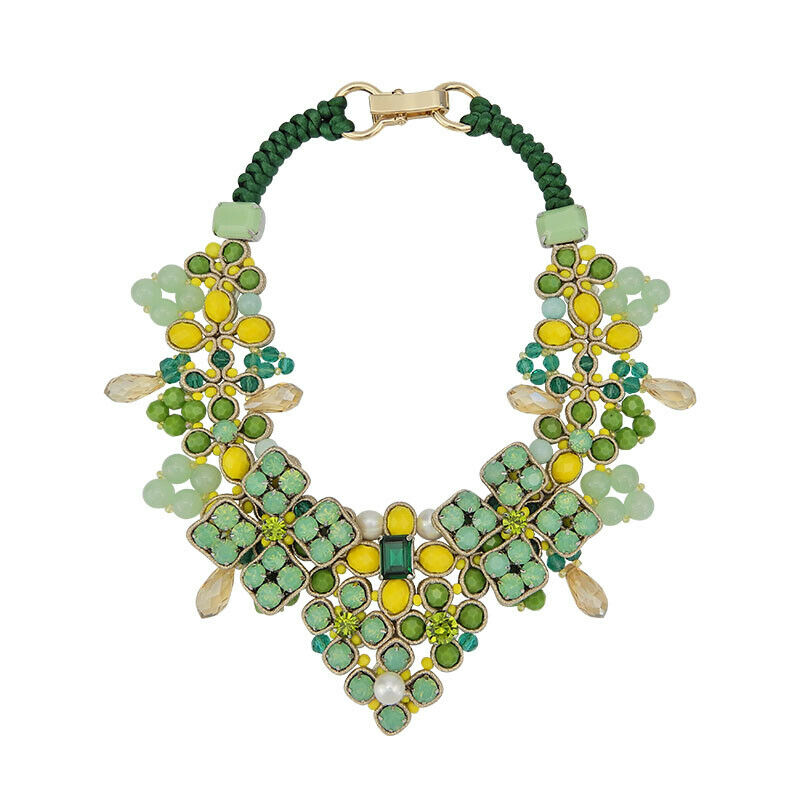 Bead Embroidery Statement Handmade Necklace Jewellery