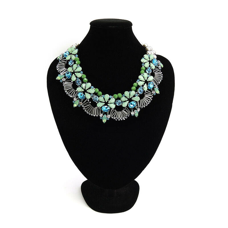 Floral Pattern Statement Handmade Necklace Bijoux