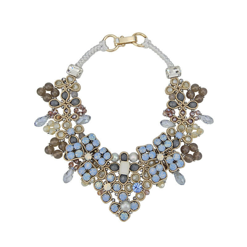 Bead Embroidery Statement Necklace