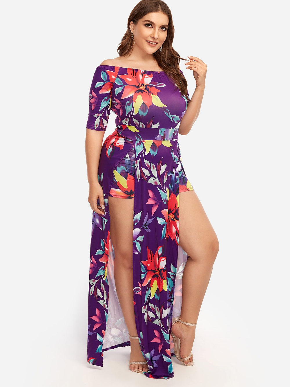 Ladies Off The Shoulder Plus Size Bottoms