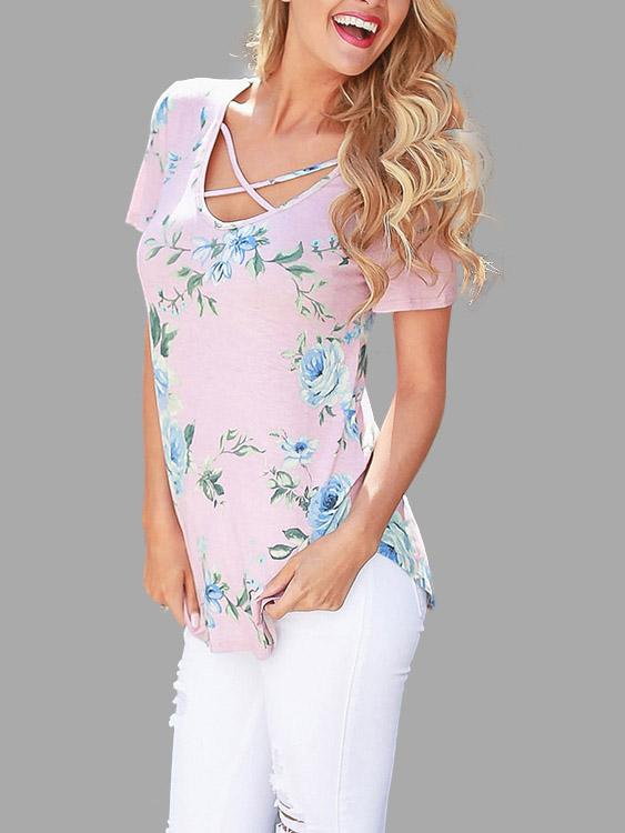Womens Floral T-Shirts