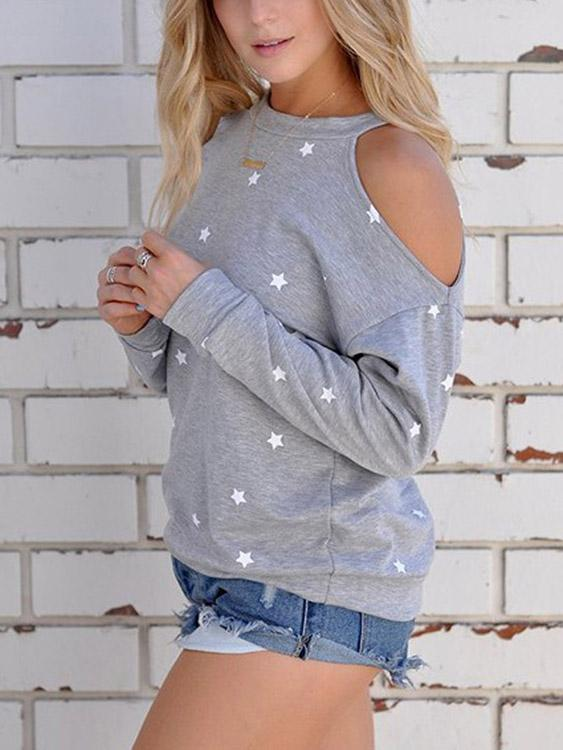 Ladies Grey Sweatshirts