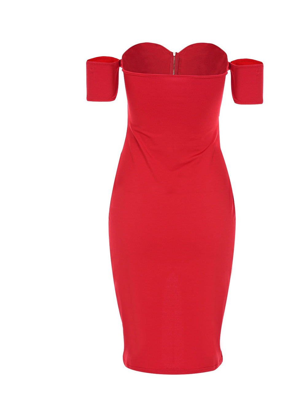 Ladies Red Off The Shoulder Dresses