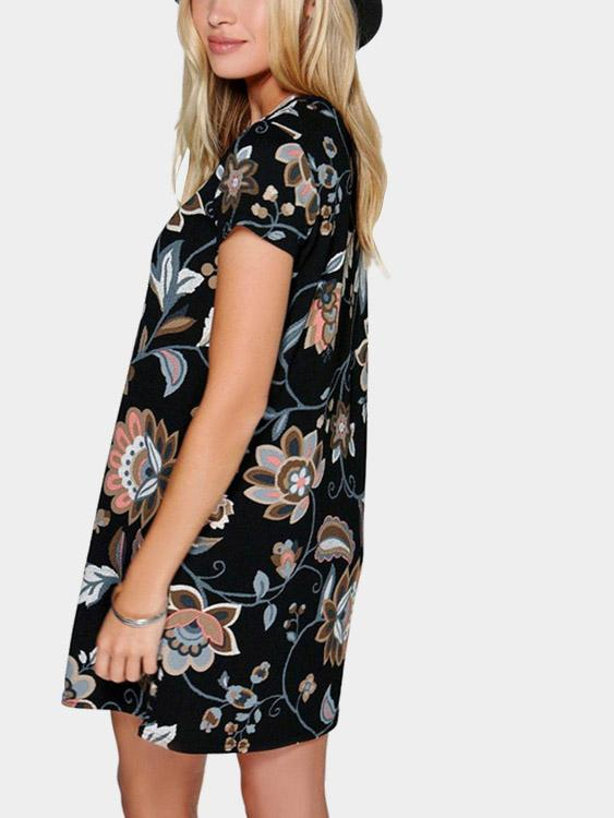 Womens Multi Floral Dresses