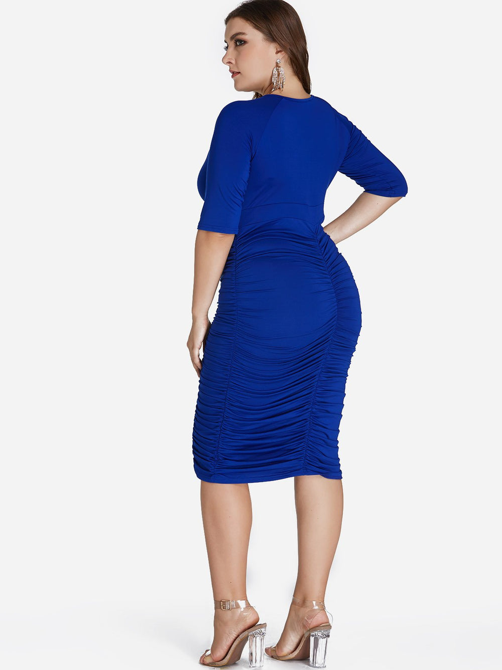 Womens Blue Plus Size Dresses