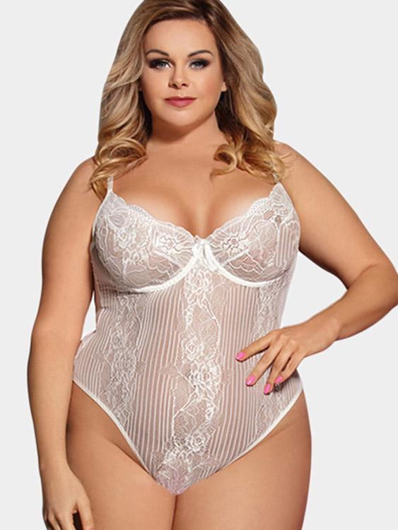 Ladies White Plus Size Intimates
