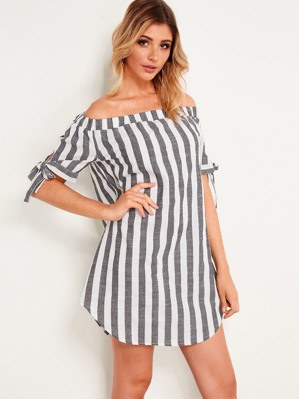 Ladies Short Sleeve Mini Dress