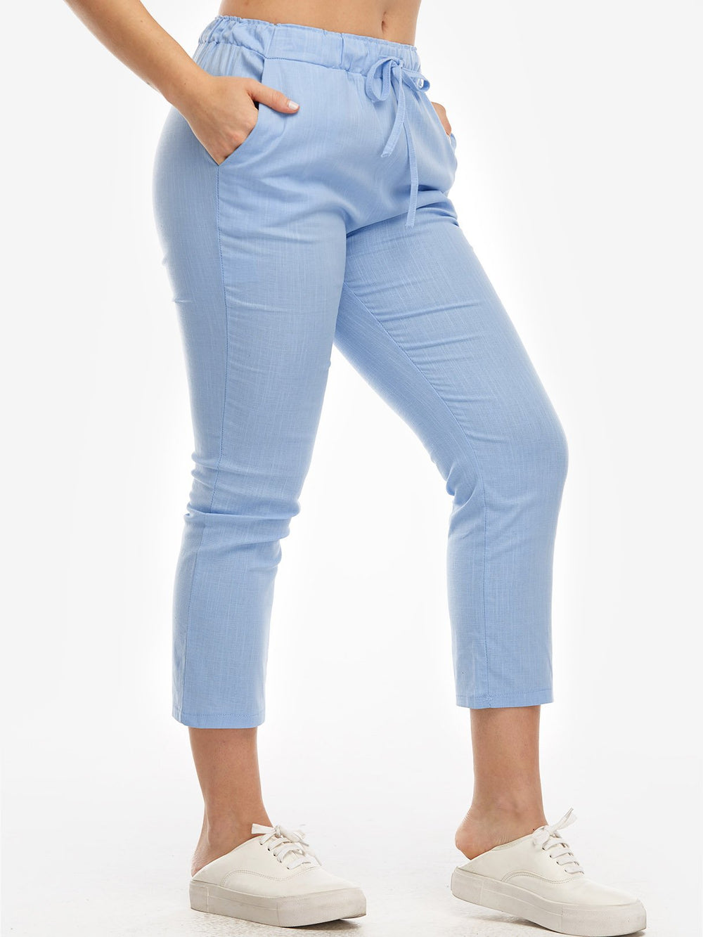 Ladies Blue Plus Size Bottoms