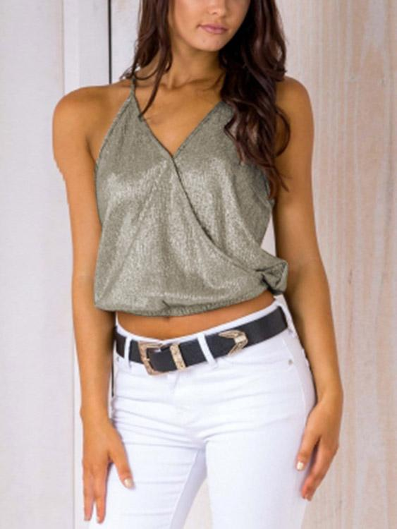 Ladies Light Green Camis