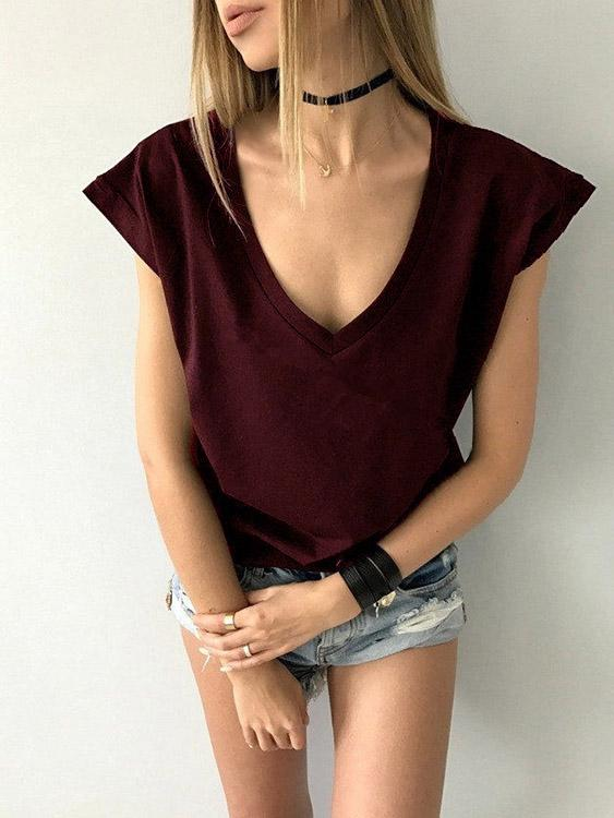 Ladies Burgundy T-Shirts
