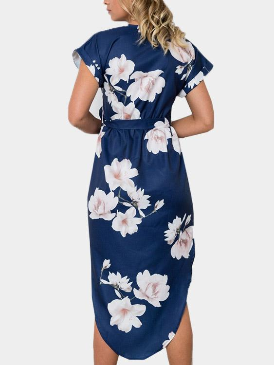 Womens Navy Floral Dresses