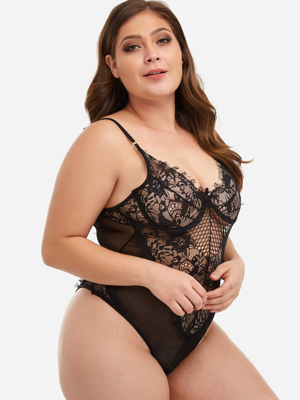 Ladies Black Plus Size Intimates