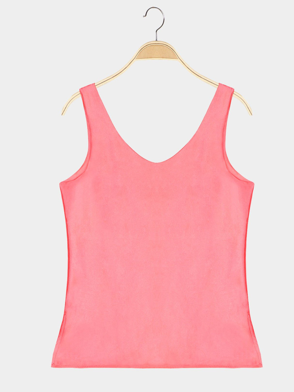 V-Neck Sleeveless Coral Tank Top