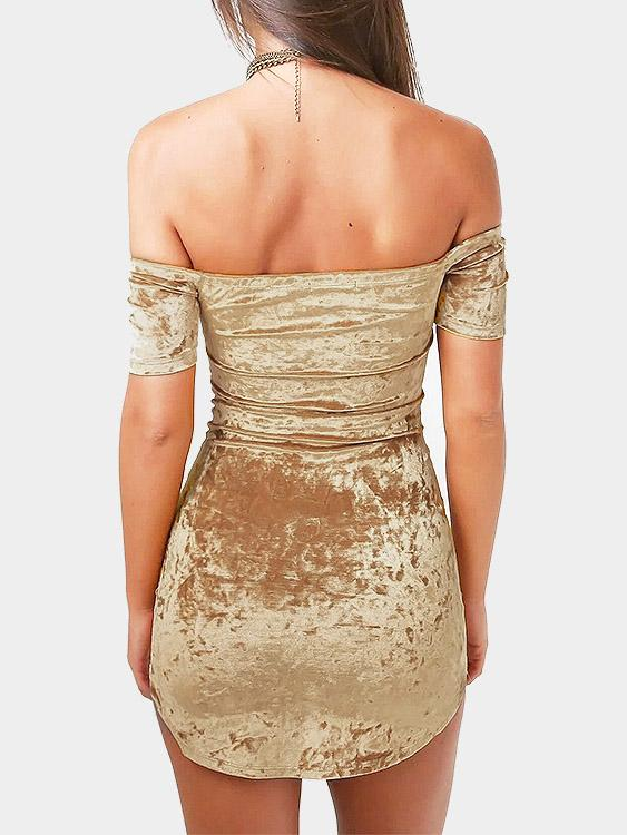 Womens Gold Mini Dresses