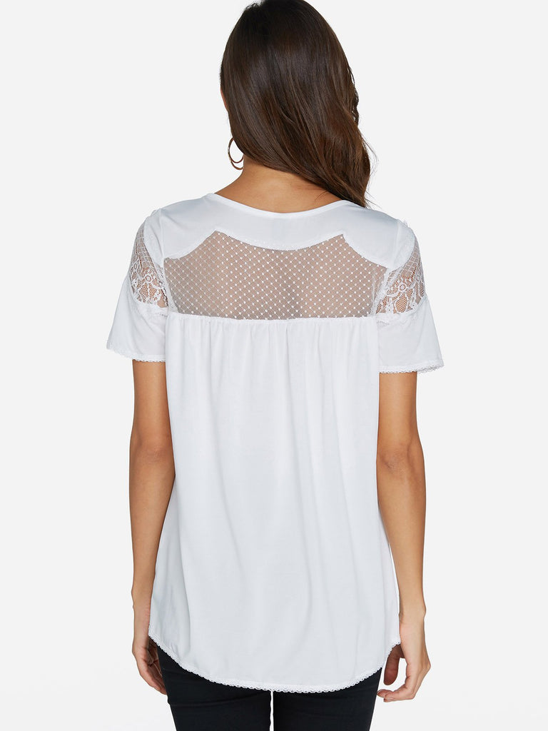 Womens White T-Shirts