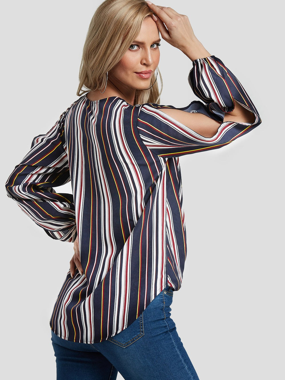 Womens Striped Blouses