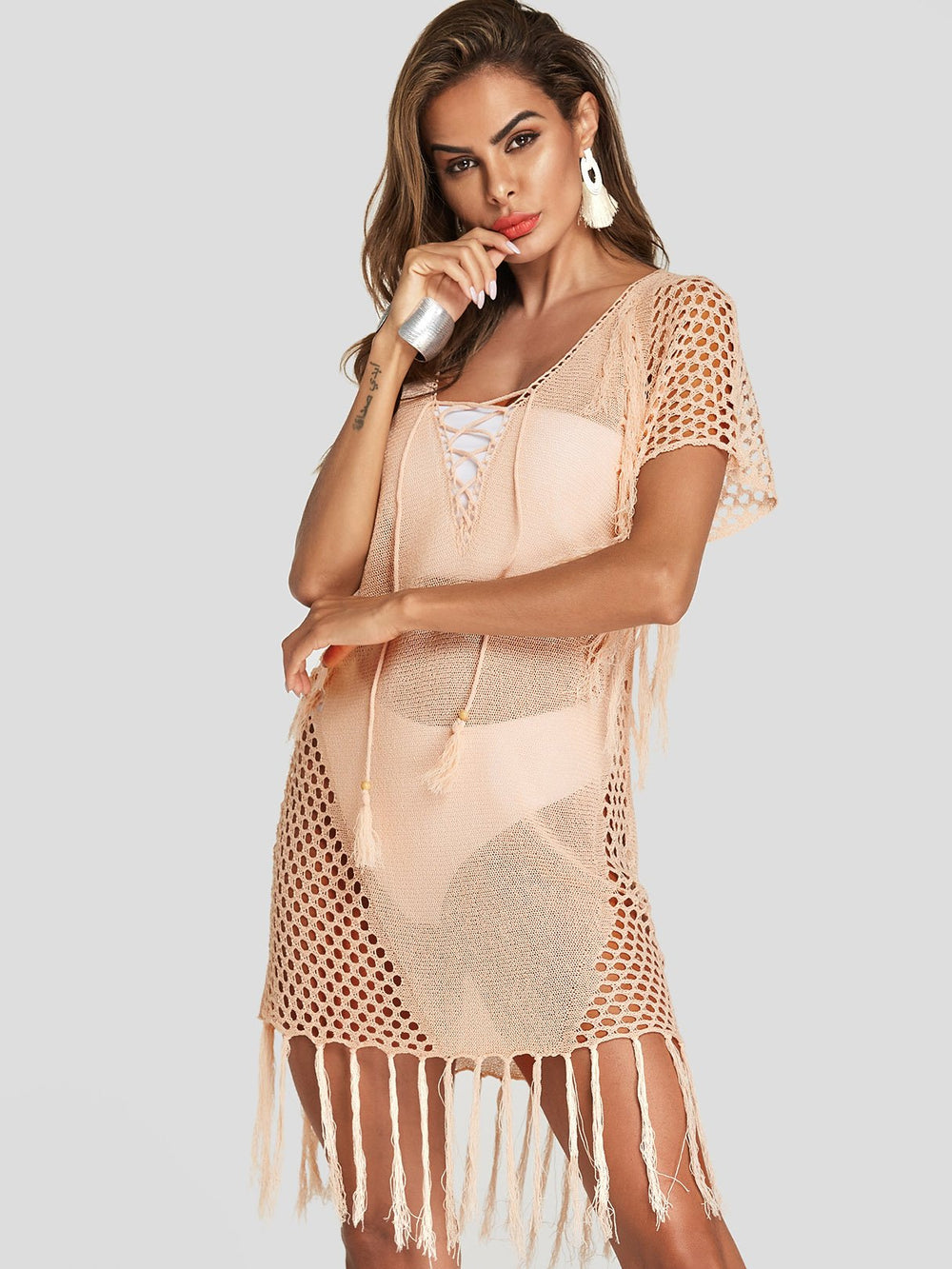 Ladies Light Pink Cover-Ups