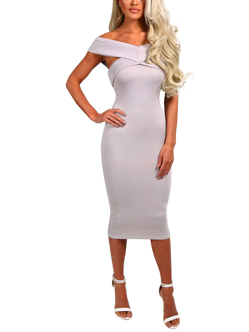 Ladies Grey Bodycon Dresses