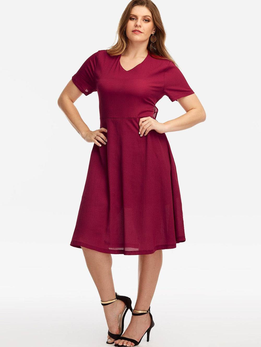 Womens Short Sleeve Plus Size Dresses