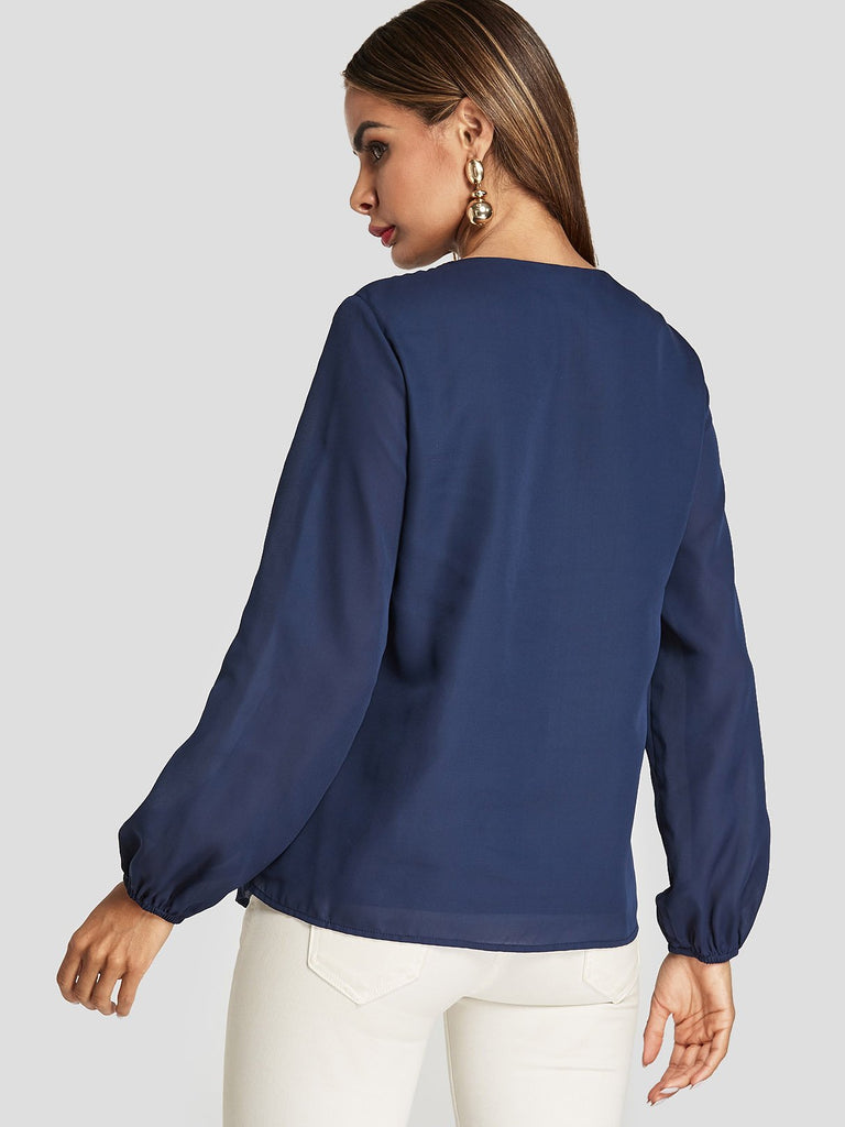 Womens Navy Blouses