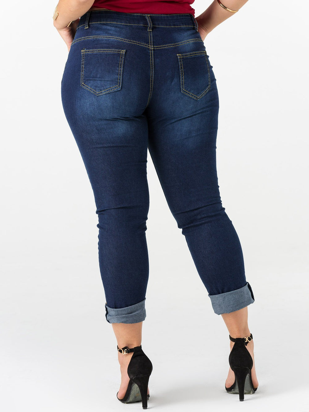 Plus Size Cropped Jogging Bottoms