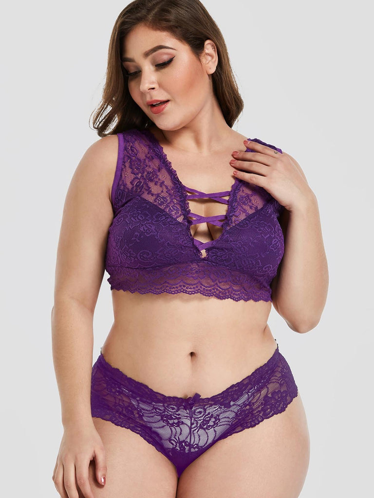 Womens Purple Plus Size Intimates