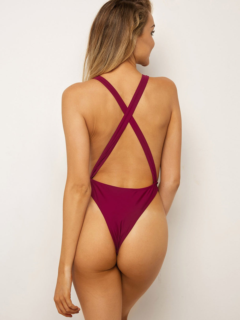 Womens Burgundy One-Pieces
