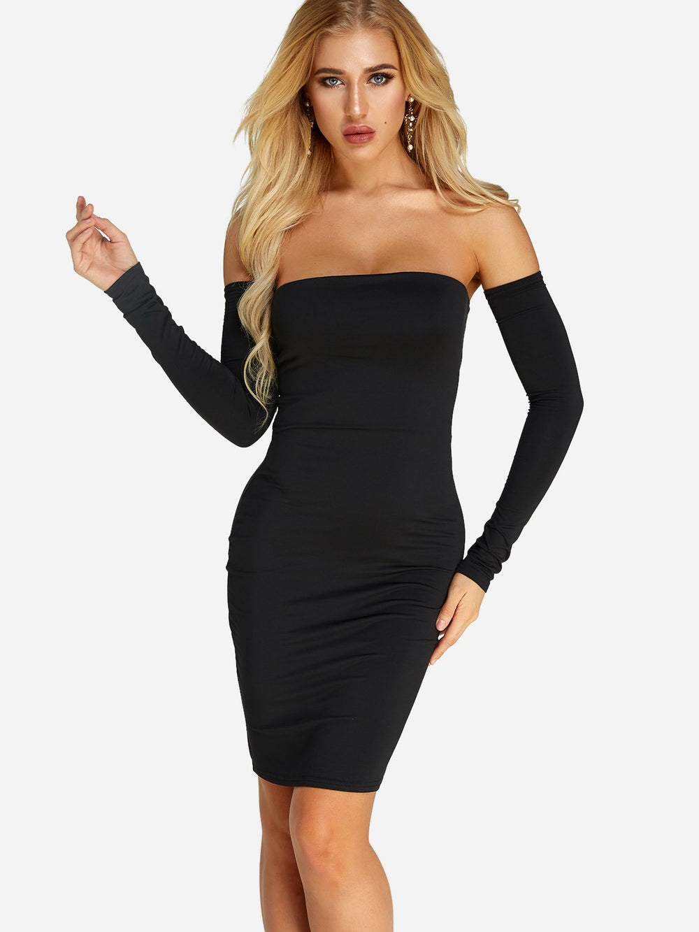 Ladies Black Off The Shoulder Dresses
