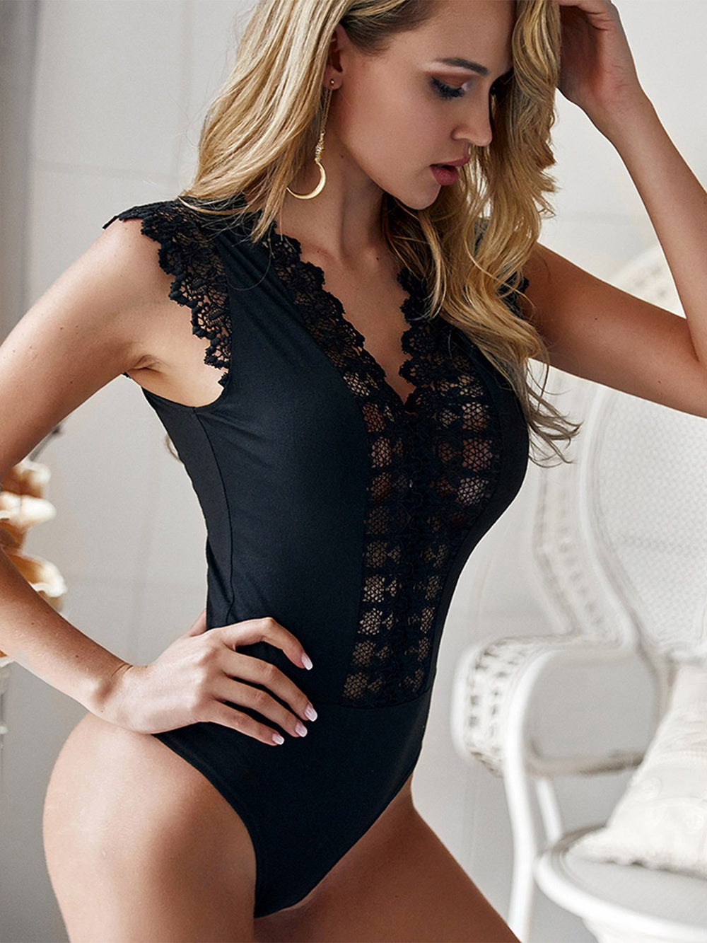 Ladies Black Bodysuits